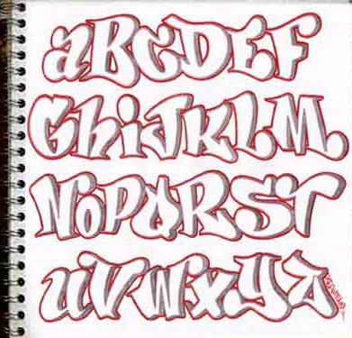 Perfect Design Sketch Graffiti Alphabet Letters In The Paper