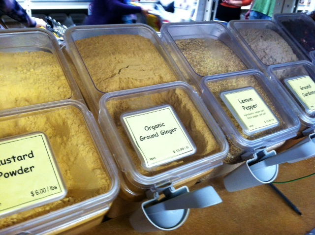 We got a little baggie of turmeric for 40¢!